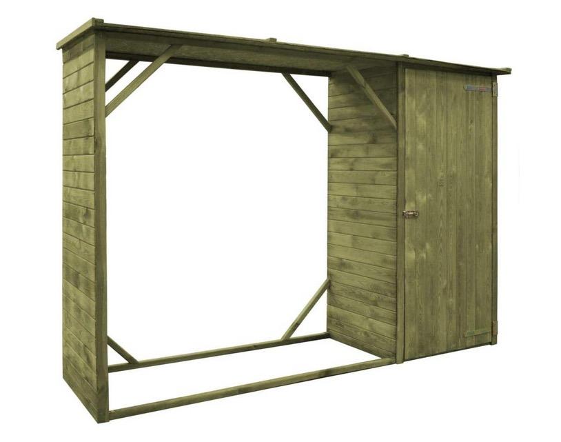 Legnaia fai da te da esterno e giardino con tetto