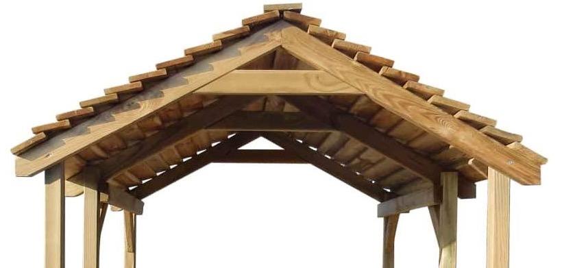 casetta legno tetto capriate bellissima elegante robusta