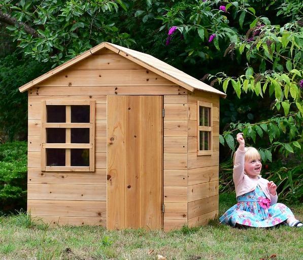 casetta sicura per bambini giocattolo da esterno in legno