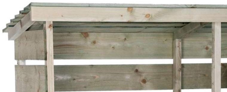legnaia per legna da ardere con tetto impermeabile pioggia vento neve