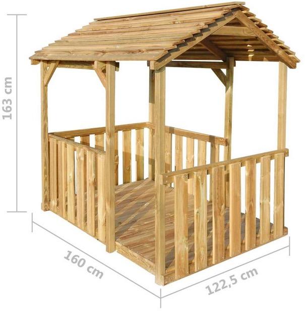 misure casetta bambini in legno certificato e trattato per esterno