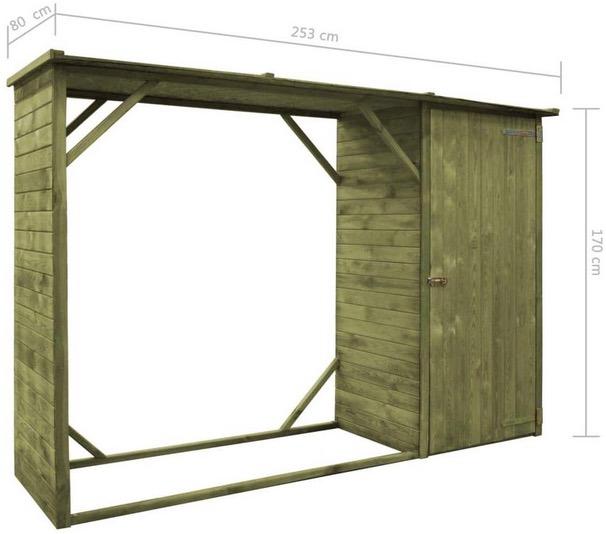 misure legnaia fai da te da esterno e giardino con tetto