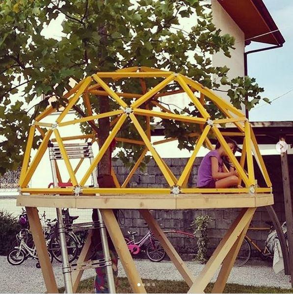cupola geodetica casetta bambini giardino