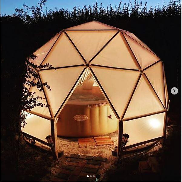 cupola geodetica relax yoga tenda