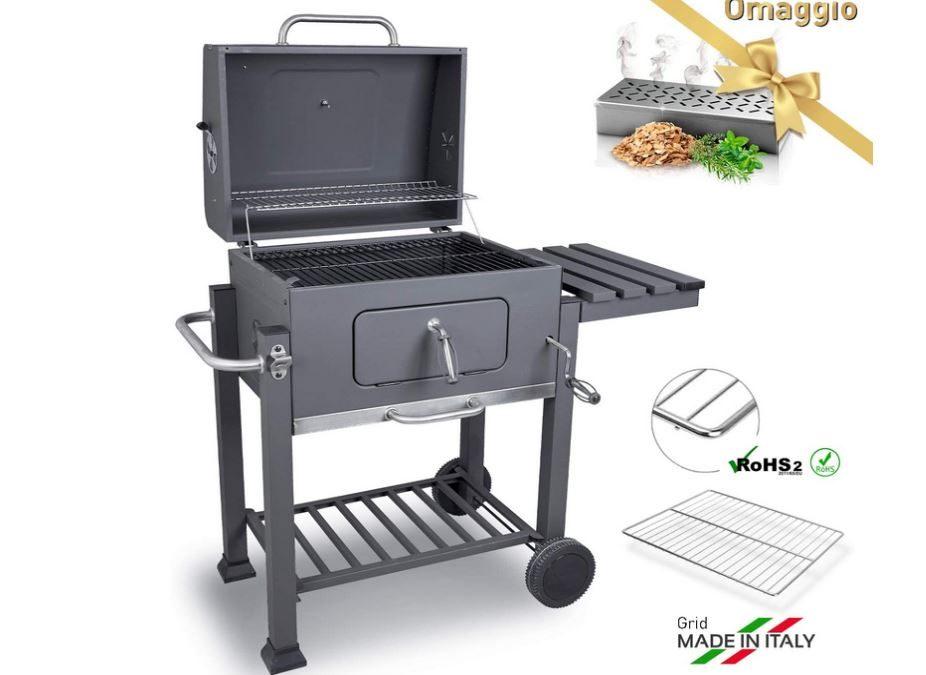 Barbecue grill e affumicatore a carbone misura XXL
